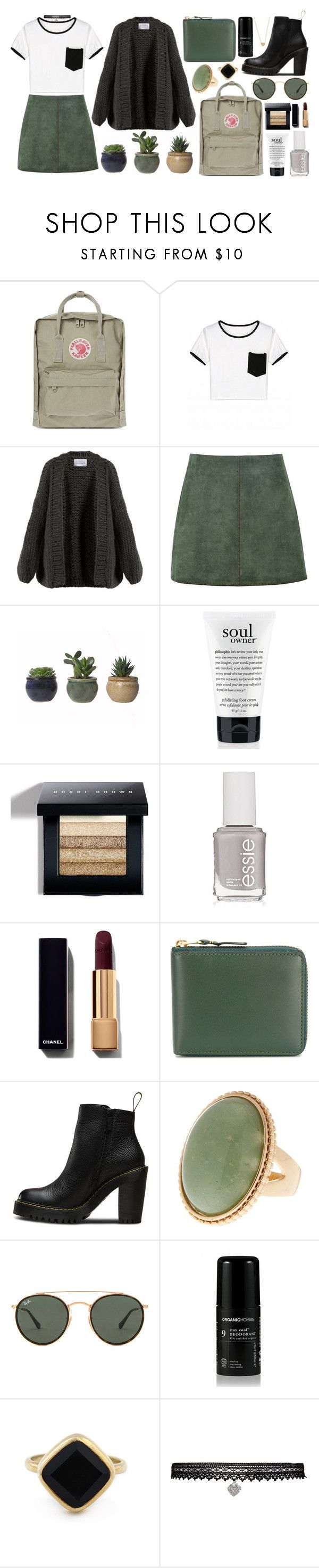 """""""TIME FOR FALL"""" by crankytofu ❤ liked on Polyvore featuring Fjällräven, I Love Mr. Mittens, George J. Love, philosophy, Bobbi Brown Cosmetics, Essie, Comme des Garçons, Magdalena, Ray-Ban and Sole Society"""