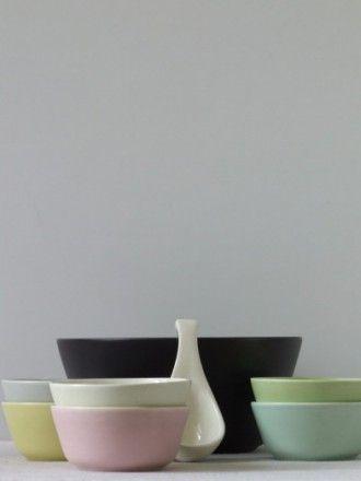 Vintage jaren 50 pastel Goedewaagen Gouda plateel pastel pindaset