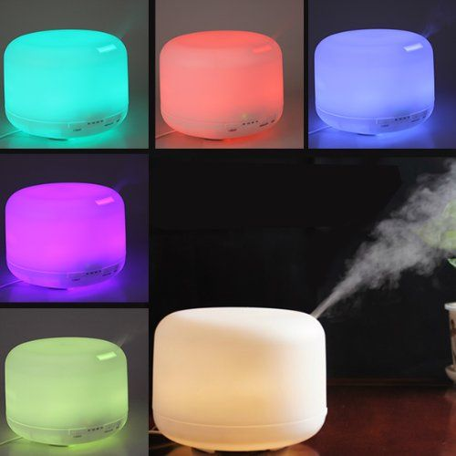 OriGlam® 500ML 9 LEDs 7 Colorful Light Changing Humidifier 2.4Mhz Ultrasonic Aroma Diffuser Adjustable Spraying Direction Essential Oil Air Humidifier OriGlam http://www.amazon.com/dp/B00FYN2YNY/ref=cm_sw_r_pi_dp_xnLxub12P830C