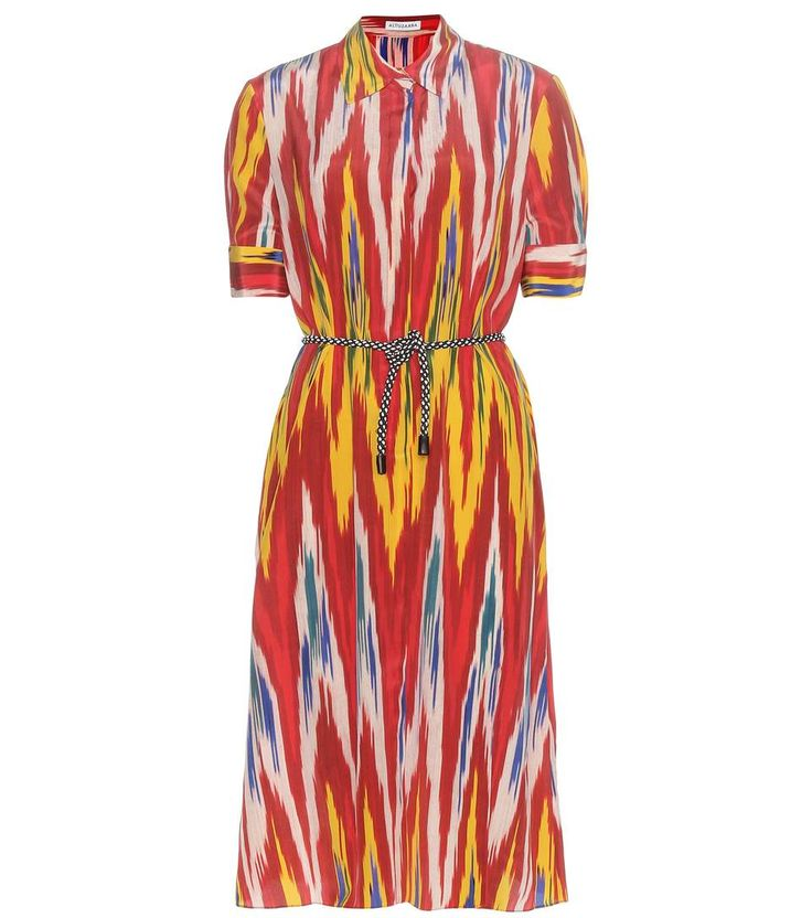 Kieran multicoloured printed silk dress