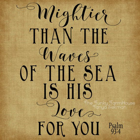 SVG, DXF & PNG - Mightier than the waves of the sea is his Love for You