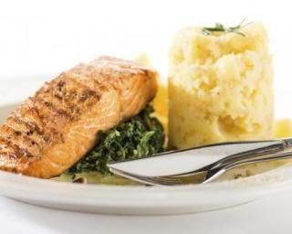 Pavé de saumon sur purée de pommes de terre au Thermomix©