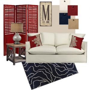 """I love the """"M"""" monogram. Would be great for mantel."""