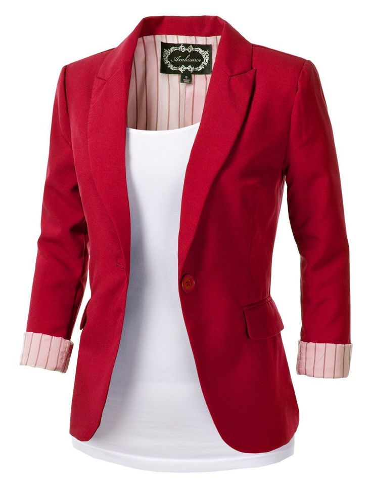 Top 25 ideas about Red Blazer on Pinterest | Red blazer outfit ...