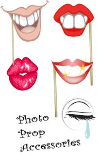 Lips Template Photo Booth