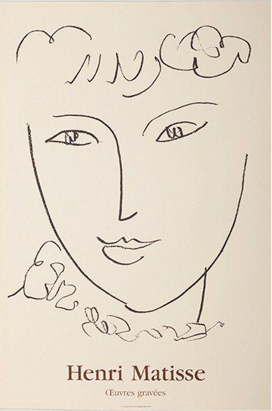 Matisse plakat - Stilleben Visage Esquisse