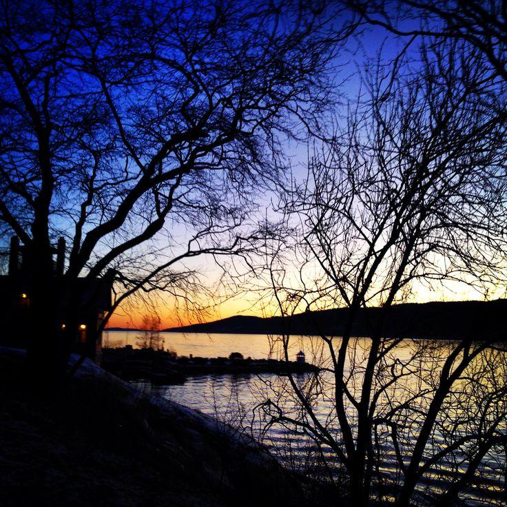 Badeparken på lillejulaften #Drøbak #Badeparken #MyTown #Light Marianne M