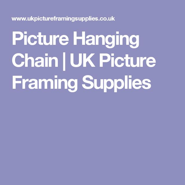 Picture Hanging Chain | UK Picture Framing Supplies