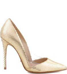 Scarpin Stiletto Ouro