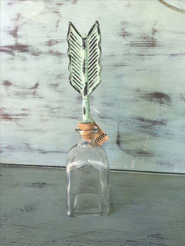 Glass Bottle with Arrow · Hillbilly Chic · Online Store Powered by Storenvy
