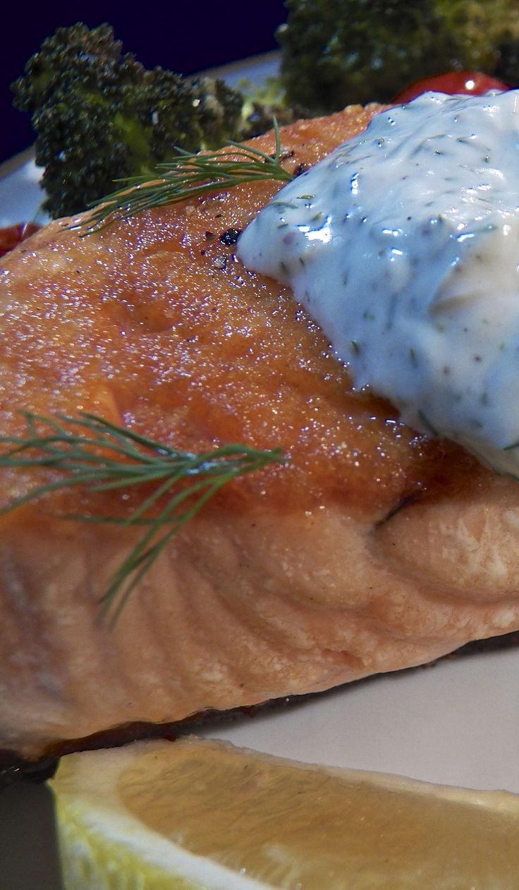 Pan-Seared Salmon with Dill Sauce   from the Bartolini kitchens