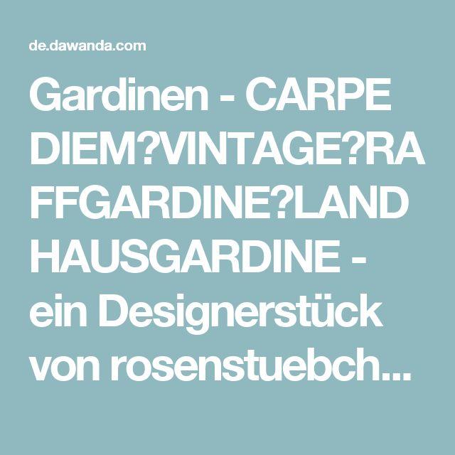 Vintage Carpe diem vintage raffgardine landhausgardine