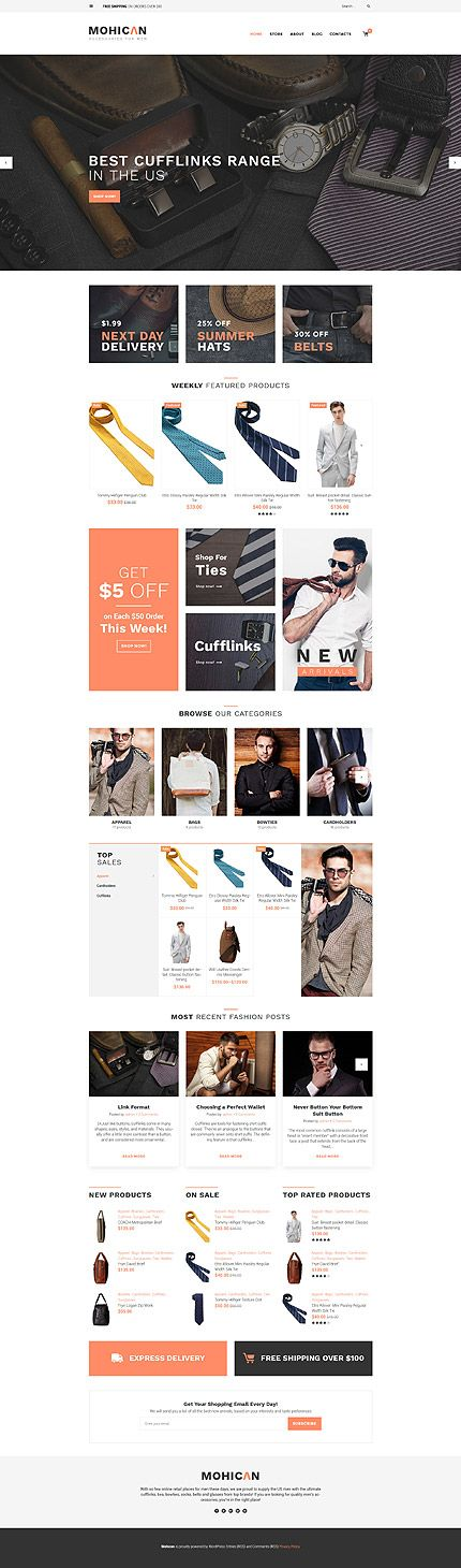 Accessories For Men Online Store #WooCommerce #template. #themes #business #responsive #WooCommercethemes