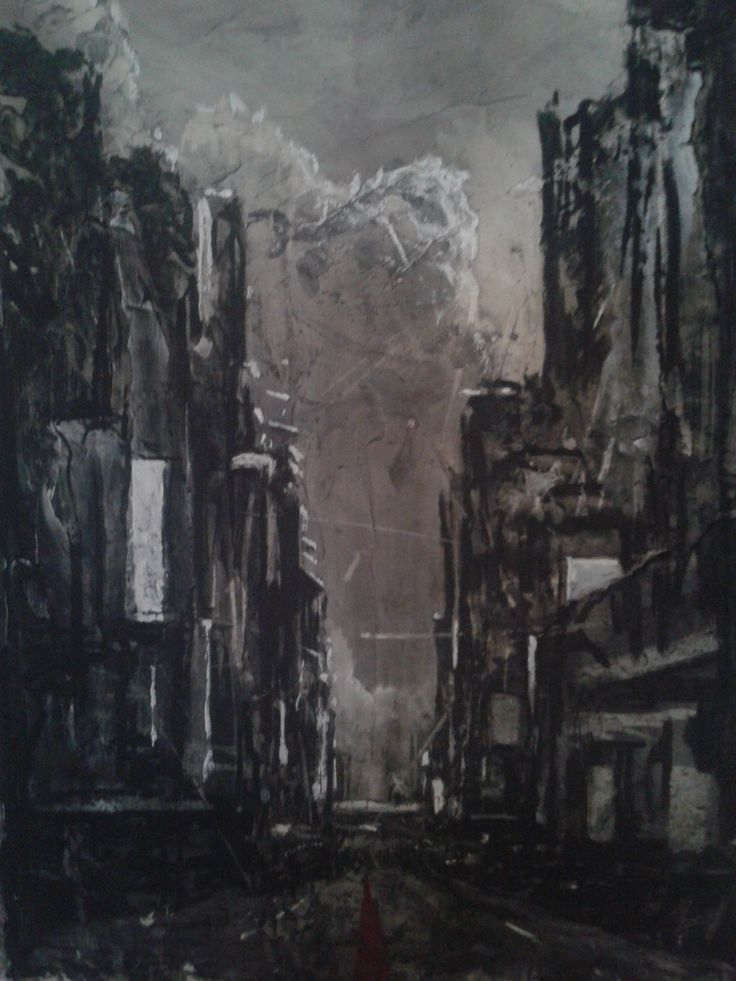 Untitled 01 800mm x 500mm Charcoal, acrylic and conté on board 2015