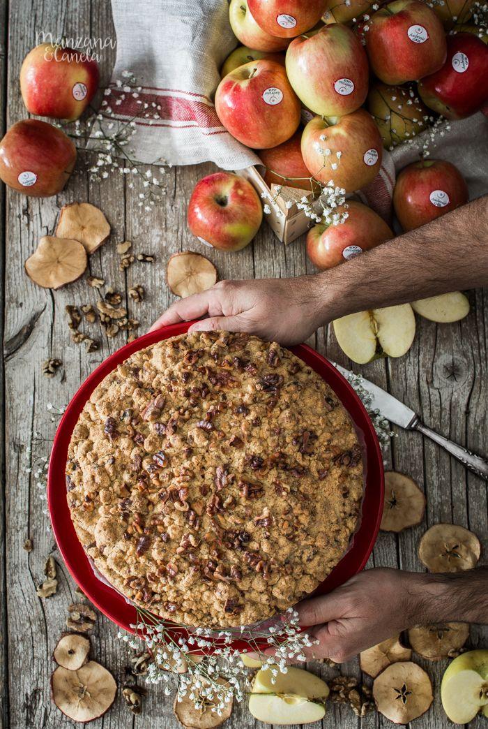 Pastel De Manzana Y Crumble De Nueces Pan De Manzana Y Canela Crujiente De Manzana Recetas Con Manzana