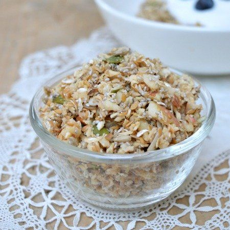 Thermomix Muesli - A healthy breakfast that can be thrown together in minutes, topped off with yogurt and fruit is the perfect way to start the day.