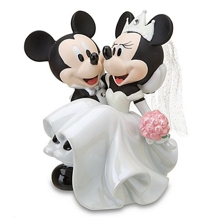 Disney Figurine Cake Topper - Wedding Minnie Mouse and Mickey Mouse... Maybe for the right guy lol