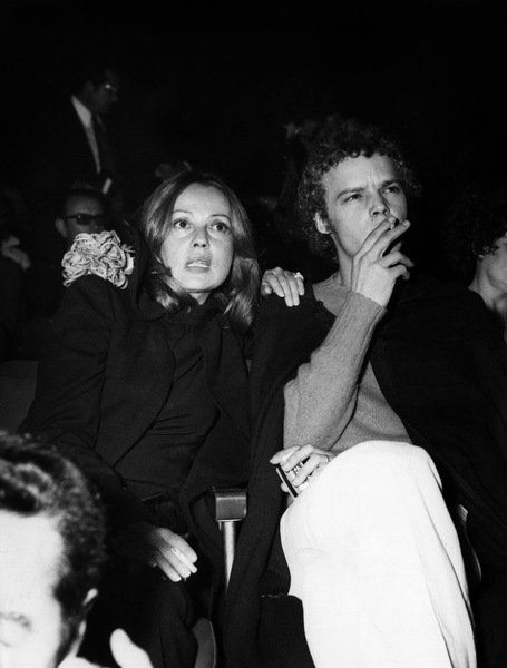 Jeanne Moreau and her son