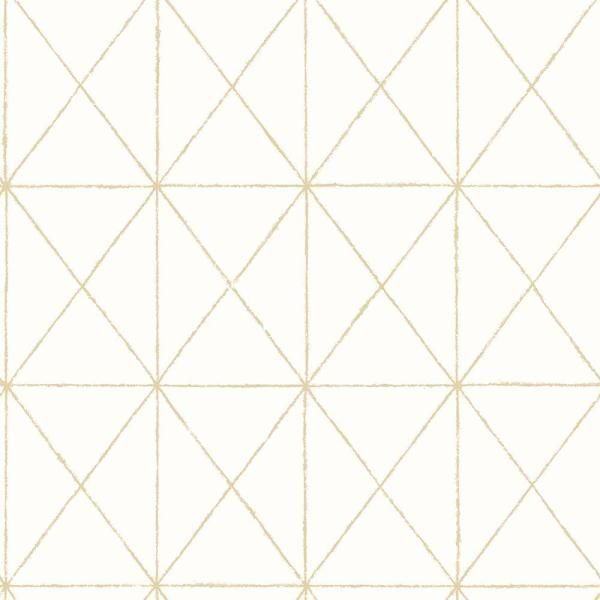 A Street Prints Intersection Gold Geometric Paper Strippable Roll Wallpaper Covers 56 4 Sq Ft 2697 78002 The Home Depot Gold Geometric Wallpaper White And Gold Wallpaper Nuwallpaper