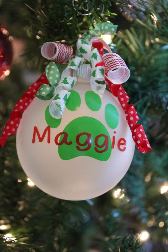 Monogram Christmas Ornament Personalize with Pet's by TGNCreations, $8.00