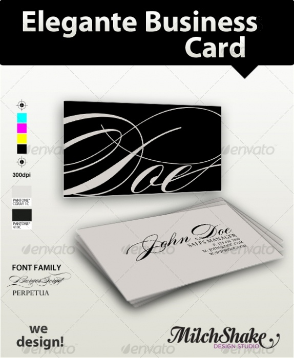 Elegante Visit Cards Templates best namecard