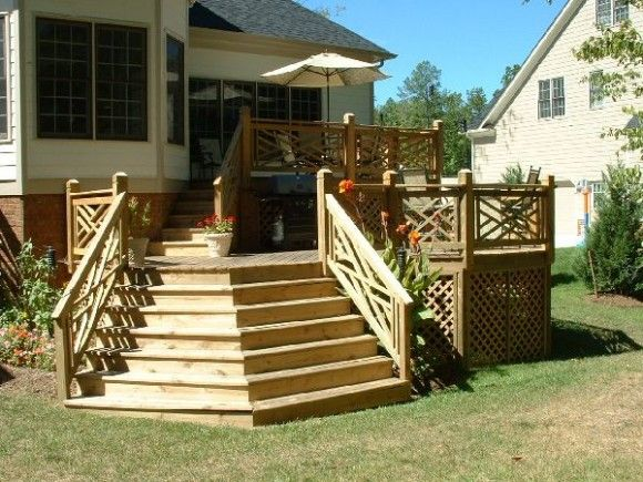 Small deck ideas with nice side panels outdoor decor Small deck ideas