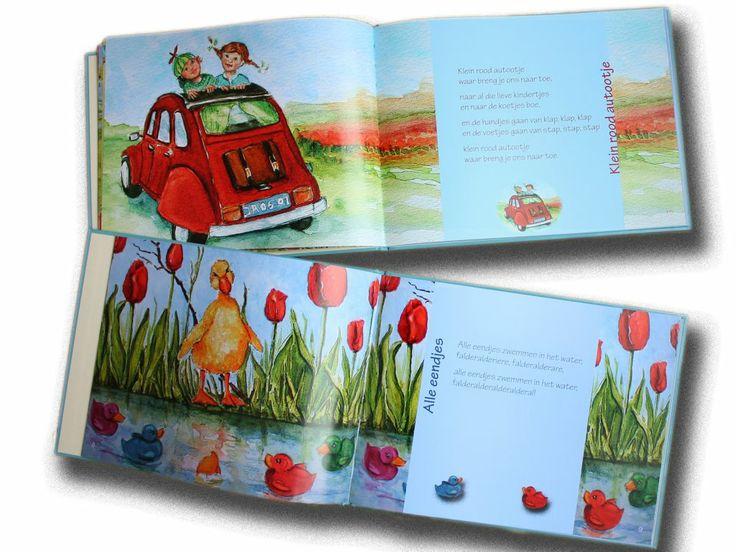 illustraties uit het liedjesboek 'k zing een liedje voor jou. ontwerp wieneke van leyen www.dewereldvanwiepje.n
