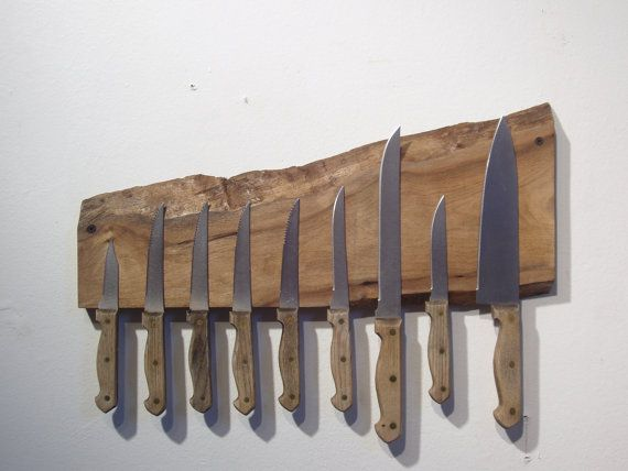 Wooden Magnetic Knife Rack - kitchen!
