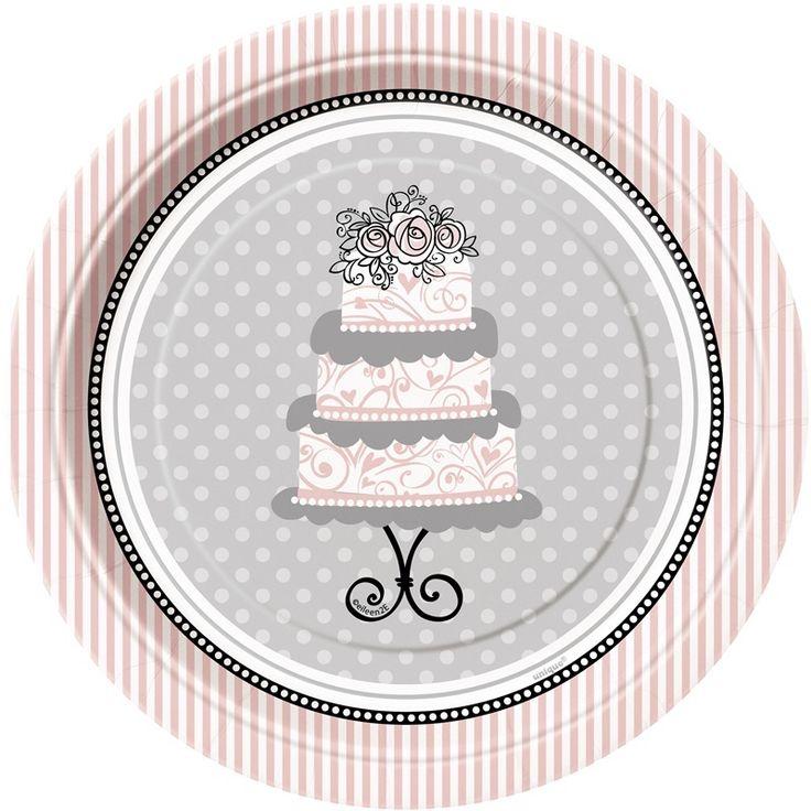 Talerzyki na tort weselny