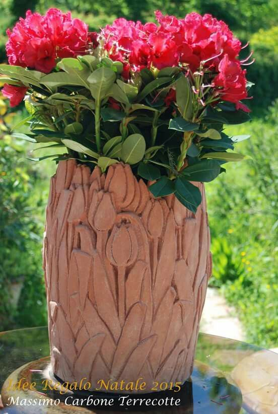 Tulipano Vase!  By Massimo Carbone Terrecotte . Handmade