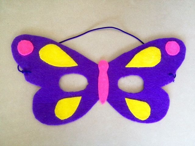 No-Sew Felt Butterfly Mask - My Kid Craft