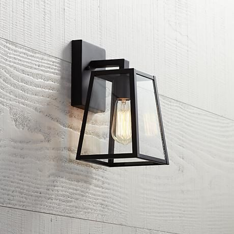 "Arrington 10 1/2"" High Mystic Black Outdoor Wall Light - Style # 8M831 SALE Save $10 $69.95"