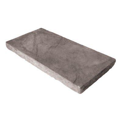 Expocrete 9-in x 18-in Slate Grey Half Rundle Stone Patio Slab