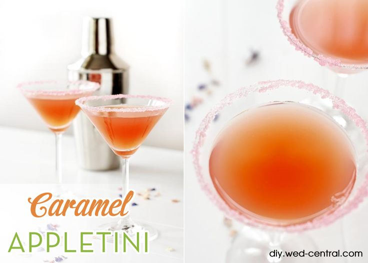 Caramel Appletini Wedding Signature Drink Recipe - Perfect for autumn or fall themed weddings and events!