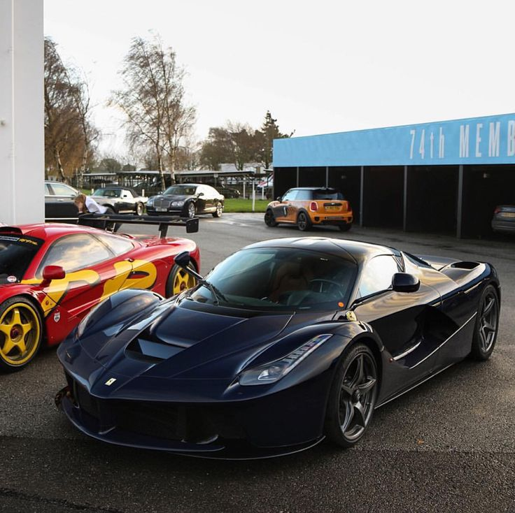 Ferrari LaFerrari painted in Blu Pozzi and a McLaren F1 GTR painted in Red  Photo taken by: @tgwhips on Instagram (Nick Mason is the owner of the cars)