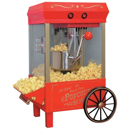 Old Fashioned Kettle Popcorn Maker- more NOSTALGIA ELECTRICS... Great price..fun gift!