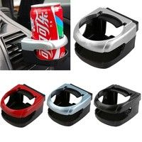 New Arrival Clip-on Cars Air Condition Vent Outlet Car Cup Holder Mounts Stand Bracket Universal Vehicle Interior Parts Accessories Durable Brackets Can Drink Bottle Coffee Water Cup Holders Stands Random Color