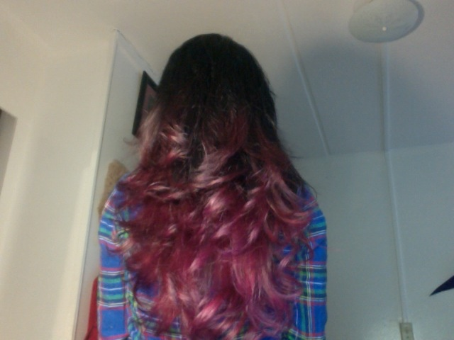 my new hair: dark brown to purple ombre | CUTE hair ...
