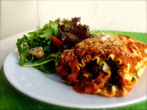 Heathy Beef & Spinach Lasagna Rolls   Weight Watchers Friendly Recipes   Simple Nourished Living