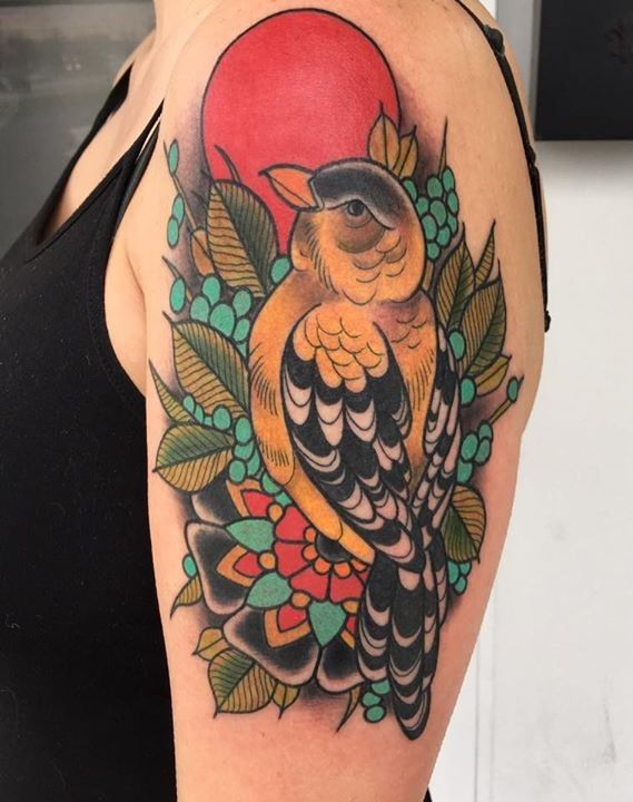 olio.tattoo Feather Birds Tattoo by Nate from Art and Soul Tattoo - Portage, MI #feather #birds -- More at: https://olio.tattoo/tattoo-images/mentions:feather