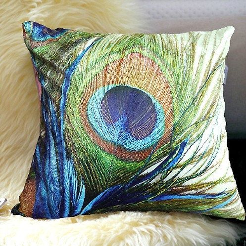 peacock Pillow animal Pillow cover Cushion cover by SweetyFairy, $26.90