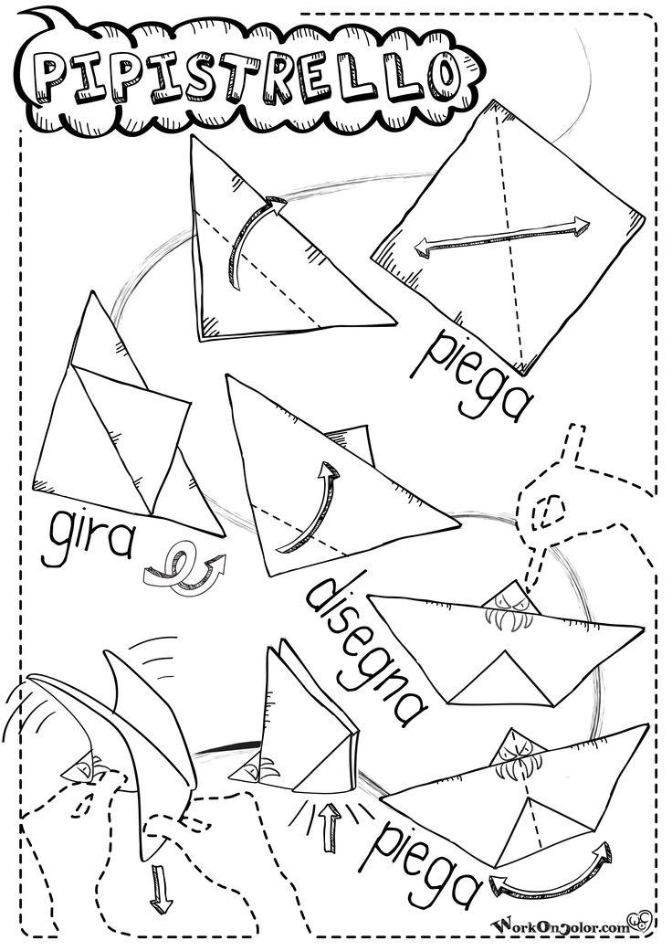 Lo Spaventevole Pipistrello di Halloween! #Origami per #Halloween! Facile da fare e da giocare, adatto per bambini anche piccoli o alle prime armi. Halloween Origami! easy to make and fun to play! For Kids! Follow me on www.facebook.com/illustrattiva