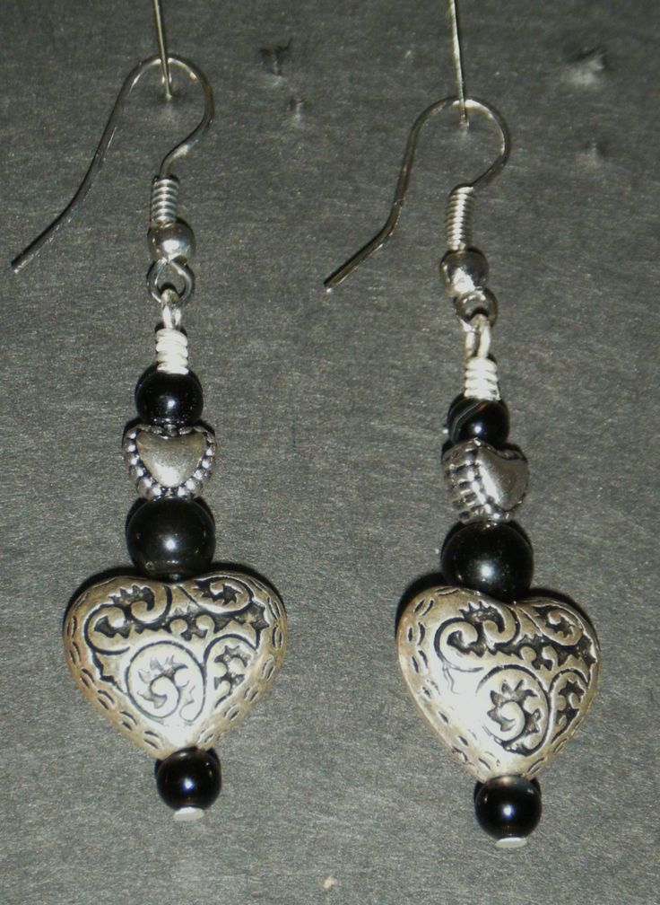 Hearts with black
