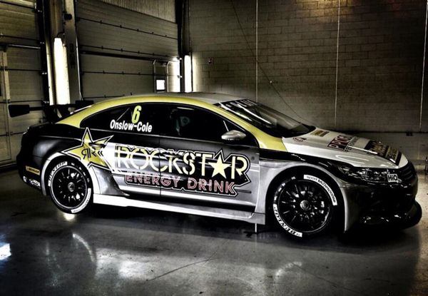 Rockstar Energy DrInk - BTCC race car livery by Jonathan Quintin, via Behance