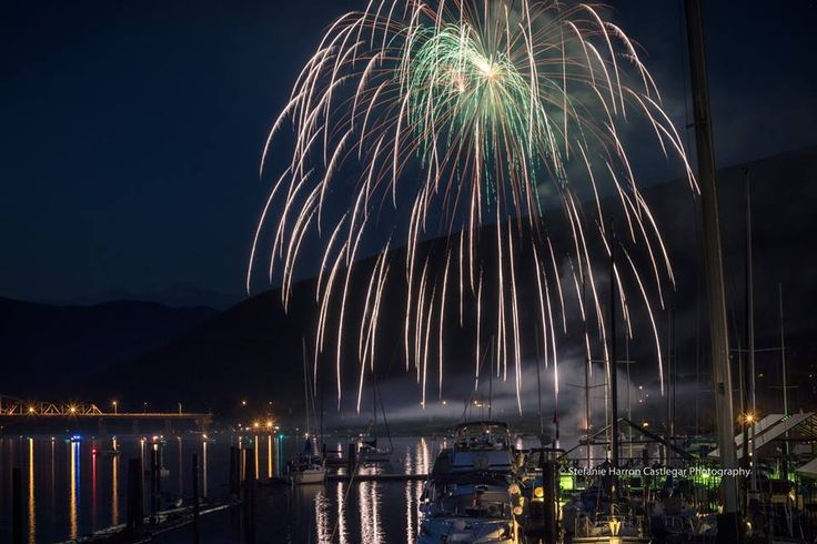 Canada Day Fireworks in Nelson, BC