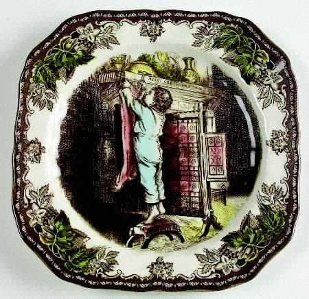 Square Accent Salad Plate in the Friendly Village The-Christmas pattern by Johnson Brothers & 144 best Johnson Brothers Friendly Village images on Pinterest ...