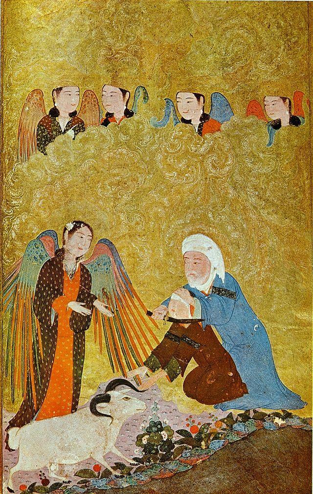 1410-11 yılları arasında Şiraz'da basılmış minyatür (Gurbenkyan koleksiyonu, Lizbon)