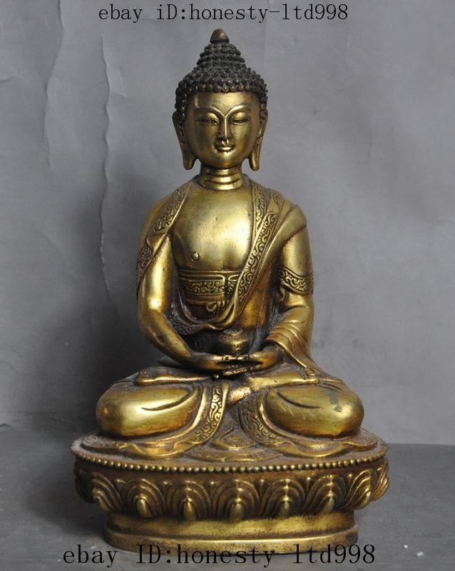ChIna Tibet buddhism Fane Bronze Sakyamuni Shakyamuni Tathagata Buddha Statue