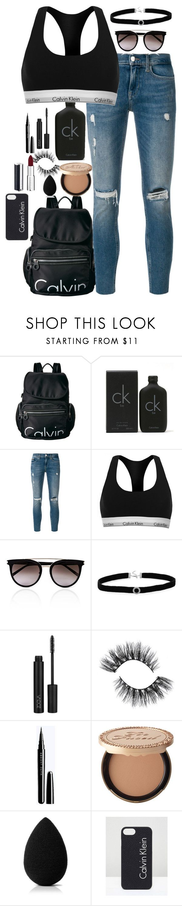 """""""Calvin Klein"""" by carbonchisofia ❤ liked on Polyvore featuring Calvin Klein, BillyTheTree, ZOEVA, Too Faced Cosmetics, beautyblender and Givenchy"""