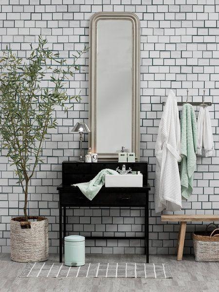 Un baño en tonos grises
